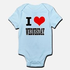 I Heart (Love) Wednesday Infant Bodysuit