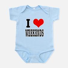 I Heart (Love) Weekends Infant Bodysuit