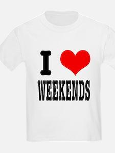 I Heart (Love) Weekends T-Shirt