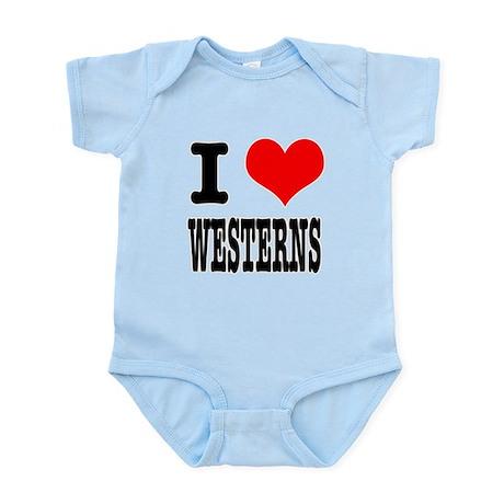 I Heart (Love) Westerns Infant Bodysuit