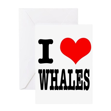 I Heart (Love) Whales Greeting Card