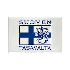 Suomen Tasavalta Rectangle Magnet