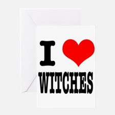 I Heart (Love) Witches Greeting Card