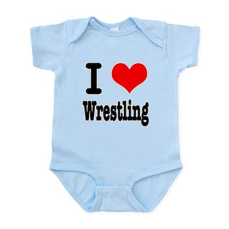 I Heart (Love) Wrestling Infant Bodysuit