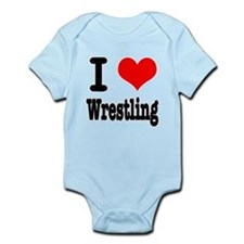 I Heart (Love) Wrestling Infant Bodysuit