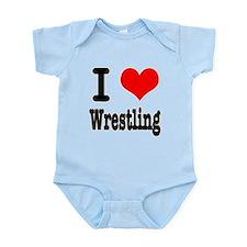 I Heart (Love) Wrestling Onesie