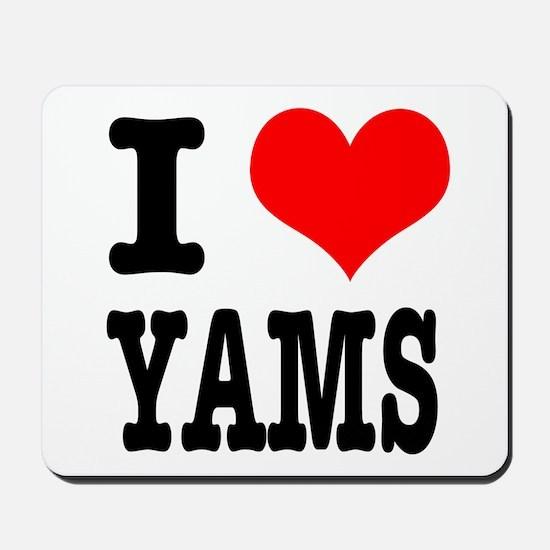 I Heart (Love) Yams Mousepad