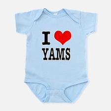 I Heart (Love) Yams Infant Bodysuit