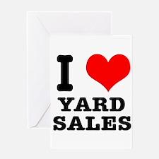 I Heart (Love) Yard Sales Greeting Card