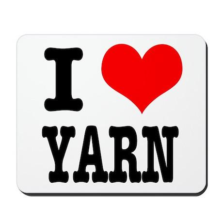 I Heart (Love) Yarn Mousepad