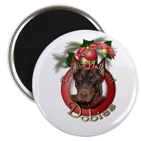 "Christmas - Deck the Halls - 2.25"" Magnet (10 pack"