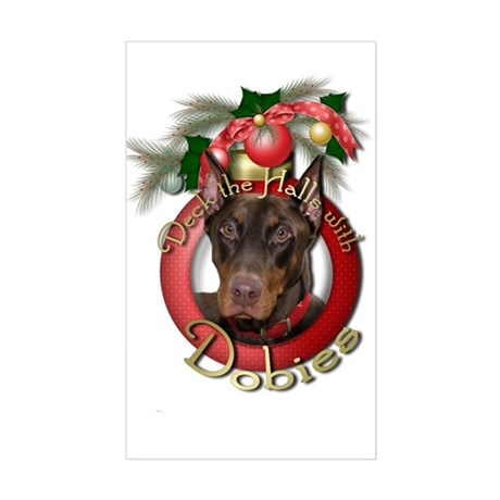 Christmas - Deck the Halls - Sticker (Rectangle)