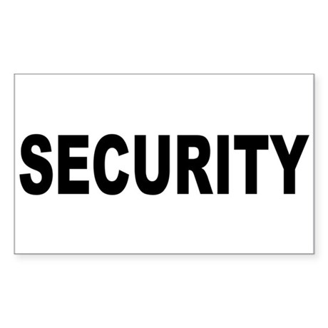 Security Rectangle Sticker
