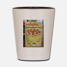 Happy Pizza Sign Shot Glass