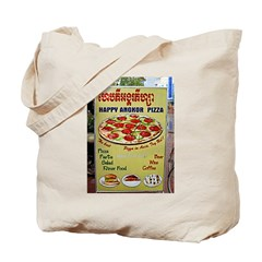 Happy Pizza Sign Tote Bag