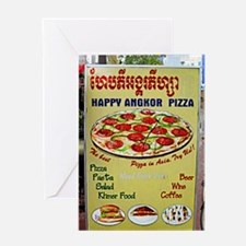 Happy Pizza Sign Greeting Card