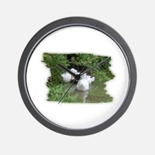 DUCKS IN THE POND Wall Clock