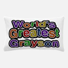 World's Greatest Grayson Pillow Case