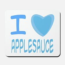 Blue I Heart (Love) Applesauc Mousepad