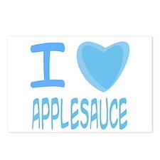 Blue I Heart (Love) Applesauc Postcards (Package o