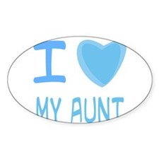 Blue I Heart (Love) My Aunt Decal