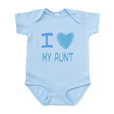 Blue I Heart (Love) My Aunt Infant Bodysuit