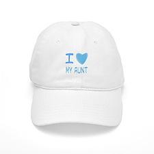 Blue I Heart (Love) My Aunt Baseball Cap