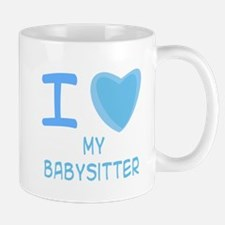 Blue I Heart (Love) My Babysi Mug