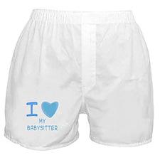 Blue I Heart (Love) My Babysi Boxer Shorts