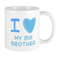 Blue I Heart (Love) My Big Br Small Mugs