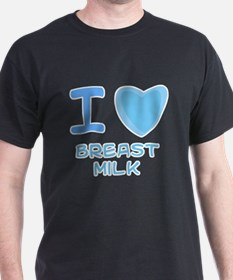 Blue I Heart (Love) Breast Mi T-Shirt