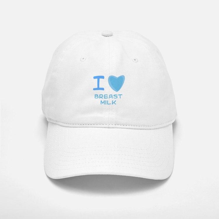 Blue I Heart (Love) Breast Mi Baseball Baseball Cap