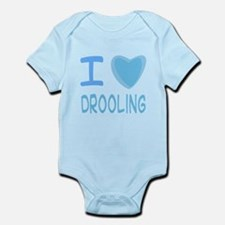 Blue I Heart (Love) Drooling Infant Bodysuit