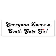 Loves South Gate Girl Bumper Bumper Sticker