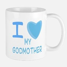 Blue I Heart (Love) My Godmot Mug