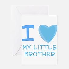 Blue I Heart (Love) My Little Greeting Card
