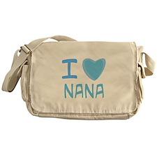 Blue I Heart (Love) Nana Messenger Bag