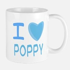 Blue I Heart (Love) Poppy Mug