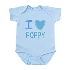 Blue I Heart (Love) Poppy Infant Bodysuit
