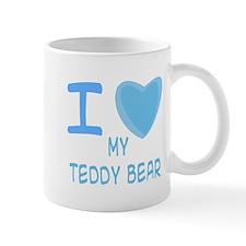 Blue I Heart (Love) My Teddy Mug
