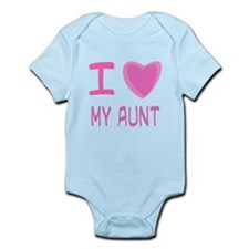 Pink I Heart (Love) My Aunt Infant Bodysuit