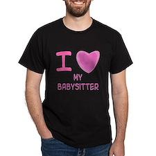 Pink I Heart (Love) My Babysi T-Shirt