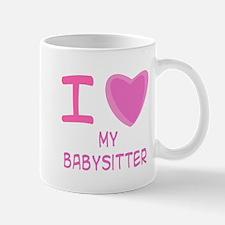 Pink I Heart (Love) My Babysi Mug