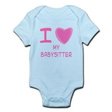 Pink I Heart (Love) My Babysi Infant Bodysuit