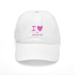 Pink I Heart (Love) My Babysi Baseball Cap