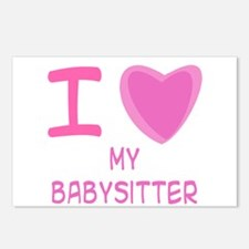 Pink I Heart (Love) My Babysi Postcards (Package o