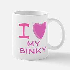 Pink I Heart (Love) My Binky Mug