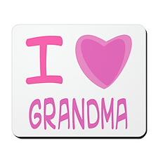 Pink I Heart (Love) Grandma Mousepad