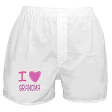 Pink I Heart (Love) Grandma Boxer Shorts