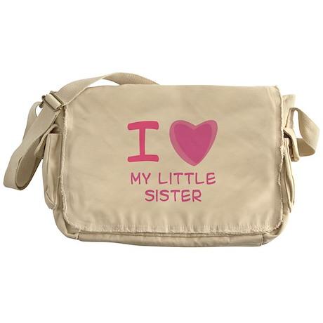 Pink I Heart (Love) My Little Messenger Bag